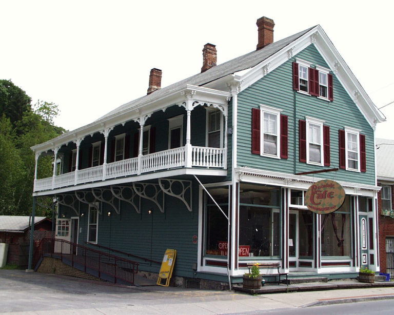 The Rosendale Cafe building at 434 Main St. Rosendale, Ulster County NY 12472
