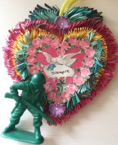 Toy soldier with siempre heart