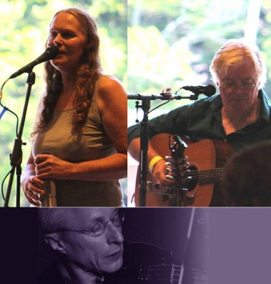Sarah Underhill on vocals & Ian Worpole on Strings & vocals, with special guest fiddler T.G.Vanini